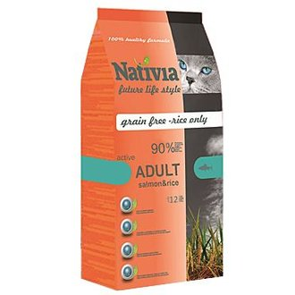 KOČKY - Nativia Cat Adult Salmon&Rice Active 1,5kg