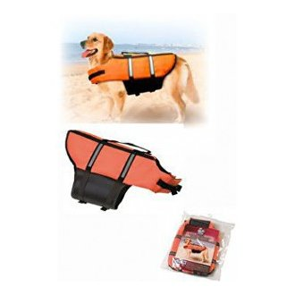 PSI - Vesta plavací Dog XS 25cm oranžová