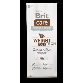PSI - Brit Care Dog Weight Loss Rabbit & Rice 12kg