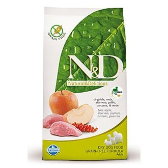 PSI - N&D Grain Free DOG Adult Maxi Boar & Apple 12kg