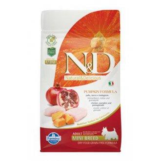 PSI - N&D GF Pumpkin DOG Adult Mini Chicken&Pomegranate 800g