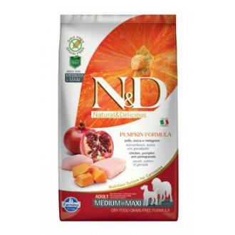 PSI - N&D GF Pumpkin DOG Adult M/L Chicken&Pomegranate 2,5kg