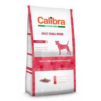 PSI - Calibra Dog GF Adult Small Breed Duck  7kg NEW