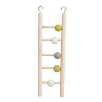 PTÁCI - Žebřík pro ptáky dřevěný 5 příček 23,5cm Zolux
