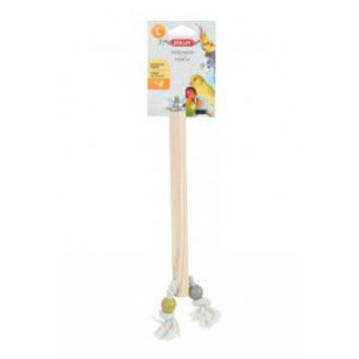 PTÁCI - Bidlo pro ptáky dřevěné L 30cm Zolux