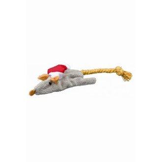 VÁNOČNÍ ZBOŽÍ - Hračka kočka Vánoční Myš 14-17cm plyš TR 1ks
