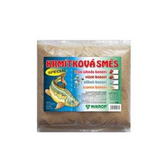 AKVARISTIKA - Krmítková směs Jahoda pro ryby - konopí 2kg