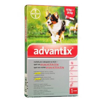 PSI - Advantix Spot On 1x2,5ml pro psy 10-25kg (1 pipeta)