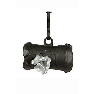 PSI - Pouzdro plast +sáčky na psí exkrementy KOST černá TR