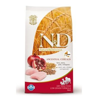 PSI - N&D Low Grain DOG Adult Maxi Chicken & Pomegranat 12kg