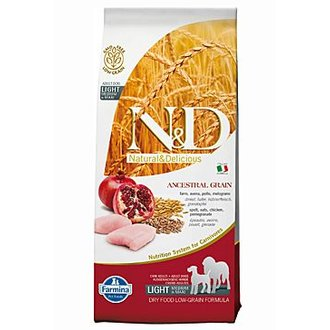 PSI - N&D Low Grain DOG Light M/L Chicken&Pomegranate 12kg