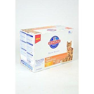 KOČKY - Hill´s Feline kapsa Adult Multipack Ch.,Turk.12x85g