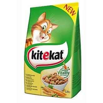 KOČKY - Kitekat Dry kuřecí se zeleninou 1,8kg