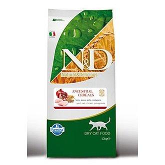 KOČKY - N&D Low Grain CAT Adult Chicken & Pomegranate 10kg