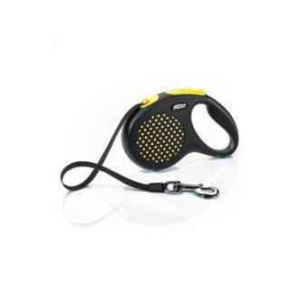 PSI - Vodítko FLEXI Design L pásek 5m/50kg žlutá