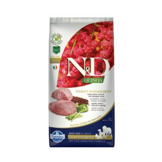 PSI - N&D GF Quinoa DOG Weight Mngmnt Lamb & Broccoli 7kg