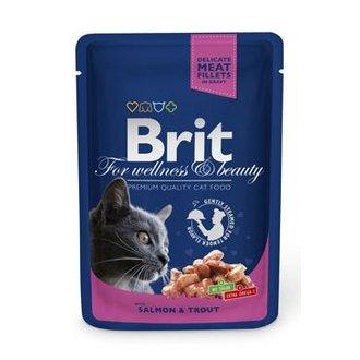 KOČKY - Brit Premium Cat kapsa with Salmon & Trout 100g