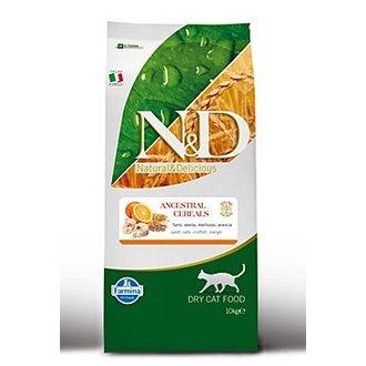 KOČKY - N&D Low Grain CAT Adult Codfish & Orange 10kg