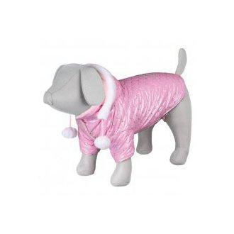 VÝPRODEJ - AKCE - Lesklá bundička DOG PRINCESS růžová S 36 cm
