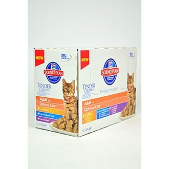 KOČKY - Hill´s Feline kapsa Adult Multipack Ch.,O.F.,B 12x85g