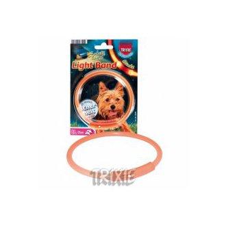 PSI - AKCE - Light Band oranžový blikací obojek 50cm (L)