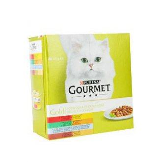 KOČKY - Gourmet Gold Mltp konz. kočka kousky duš.a gril.8x85g