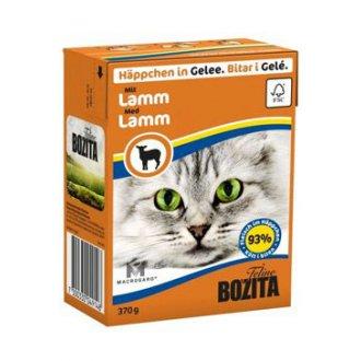 KOČKY - Bozita Cat kousky v želé s jehněčím masem TP 370g