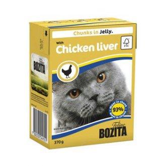 KOČKY - Bozita Cat kousky v želé s kuřecími játry TP 370g