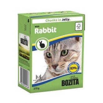 KOČKY - Bozita Cat kousky v želé s králičím masem TP 370g