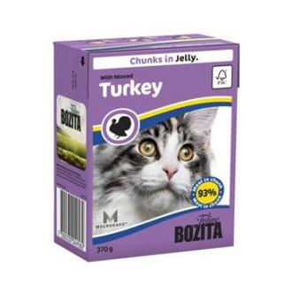 KOČKY - Bozita Cat kousky v želé s krůtím masem TP 370g