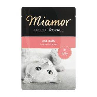 KOČKY - Miamor Cat Ragout kapsa Royale telecí v želé 100g