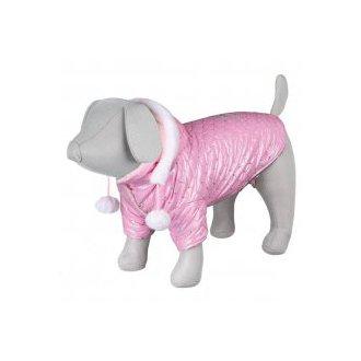 PSI - AKCE -  Lesklá bundička DOG PRINCESS růžová S 33cm
