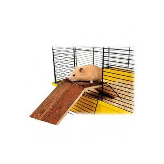 VÝPRODEJ - AKCE - Dřevěný most pro králíky a morčata do klecí 63x18x15 cm