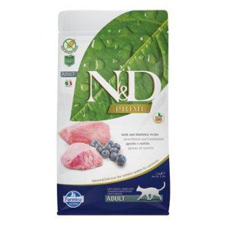 KOČKY - N&D PRIME CAT Adult Lamb & Blueberry 1,5kg