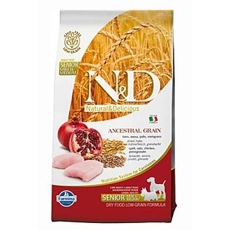 PSI - N&D Low Grain DOG Senior S/M Chicken & Pomegr 800g