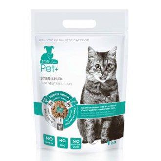 KOČKY - the Pet+ 3in1 cat STERILISED 1kg