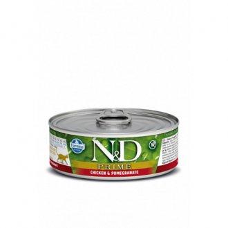 KOČKY - N&D CAT PRIME Adult Chicken & Pomegranate 80g
