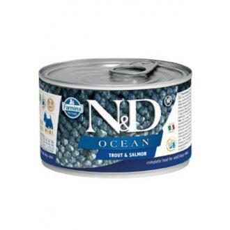 PSI - N&D DOG OCEAN Adult Trout & Salmon Mini 140g