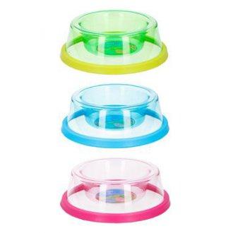 PSI - Miska plast transparent.protiskluz 19x6,5cm, mix barev