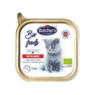 KOČKY - Butcher´s Cat Bio s hovězím vanička 85g