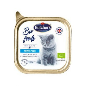 KOČKY - Butcher´s Cat Bio s rybou vanička 85g