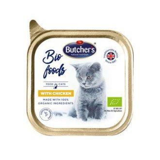 KOČKY - Butcher´s Cat Bio s kuřecím vanička 85g