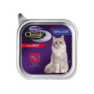 KOČKY - Butcher´s Cat Pro Series Sking&Coat hovězí vanička 85g