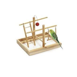 PTÁCI - Hračka pták Hřiště 28x23x23cm dřevo KAR 1ks