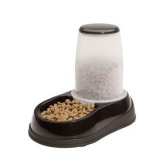 PSI - Miska se zásob. na krmivo 1,5kg černo-bílá Maelson