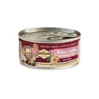 VÝPRODEJ - AKCE - Carnilove White Muscle Meat Turkey&Salmon Kittens 100g
