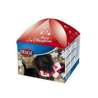 VÁNOČNÍ ZBOŽÍ - Vánoční dárková krabice pro psy červená TR