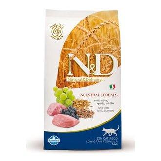 KOČKY - N&D Low Grain CAT Adult Lamb & Blueberry 1,5kg
