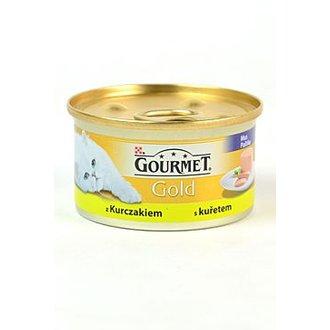 KOČKY - Gourmet Gold konz. kočka jemná paštika s kuř.masem 85g