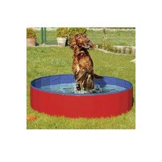 PSI - Bazén sklád. nylon pes 120x30cm blue/red KAR 1ks